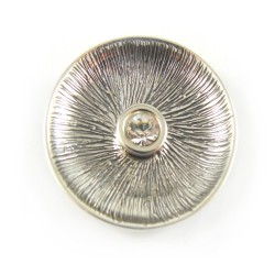 Zawieszka srebrna lekko oksydowana cyrkonia