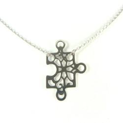 Naszyjnik srebrny ażurowy Puzzel