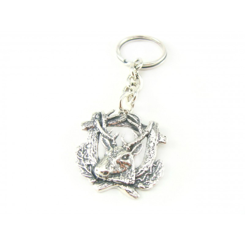 Brelok srebrny oksydowany jeleń