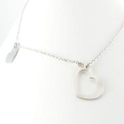 Naszyjnik srebrny rodowany serca