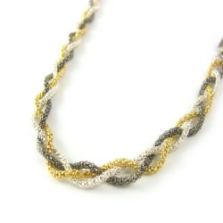 Naszyjnik srebrny warkocz