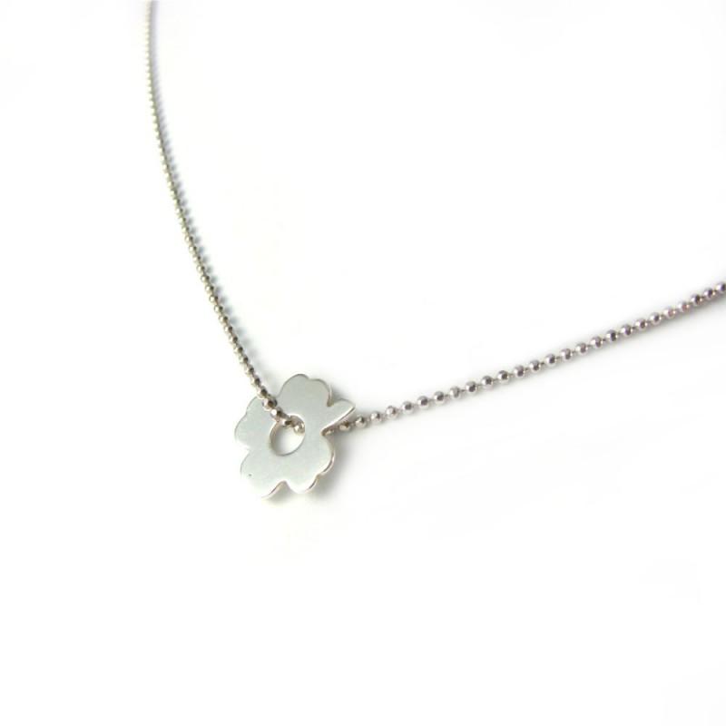 Naszyjnik celebrytek srebrny koniczynka
