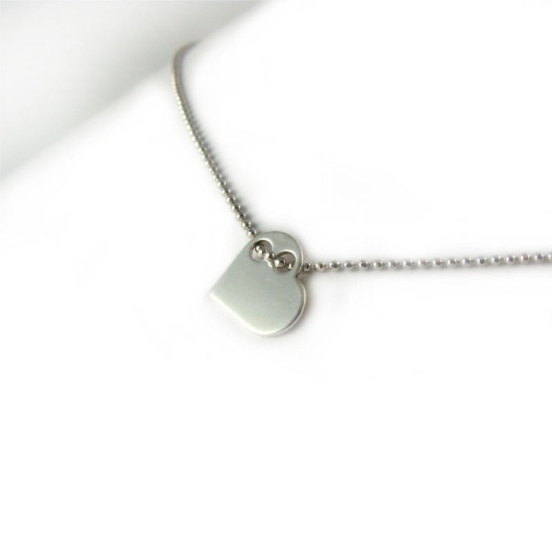 Naszyjnik celebrytek srebrny serce