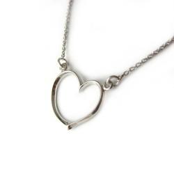 Naszyjnik celebrytek srebrny rodowany Serce