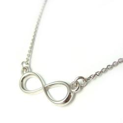 """Naszyjnik srebrny rodowany """"Infinity"""""""