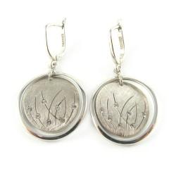 Kolczyki srebrne na biglu angielskim