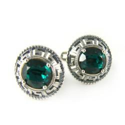 Kolczyki srebrne kryształ Swarovski