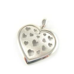 Zawieszka srebrna serce