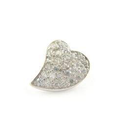 Zawieszka srebrna rodowana serce