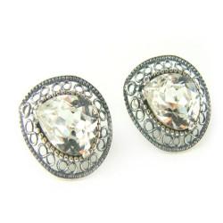 Kolczyki srebrne bigiel angielski Swarovski Crystal