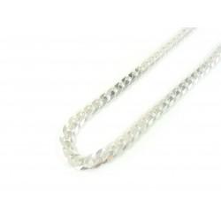 Łańcuszek srebrny PANCERKA diamentowana 50cm