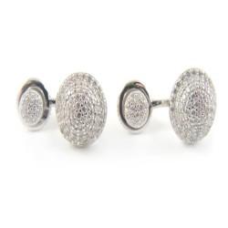 Kolczyki srebrne na sztyfcie z cyrkoniami