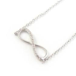 Naszyjnik srebrny Infinity z cyrkoniami