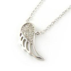 Naszyjnik srebrny z zawieszką w kształcie skrzydeł