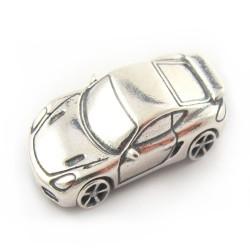 Samochodzik srebrny pamiątka chrztu