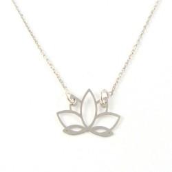 Naszyjnik srebrny kwiat lotosu