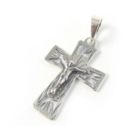 Krzyżyk srebrny oksydowany