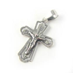 Krzyżyk srebrny oksydowany Chrystus