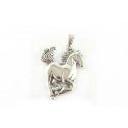 Zawieszka srebrna lekko oksydowana koń