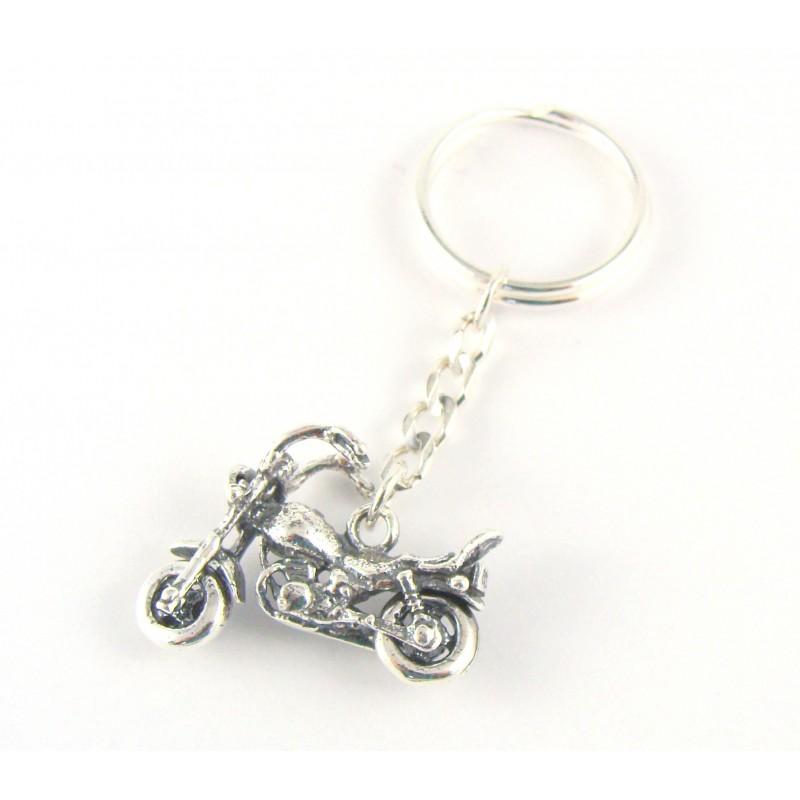 Brelok srebrny motocykl oksydowany