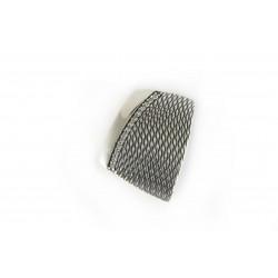 Zawieszka srebrna oksydowana z drobnymi cyrkoniami