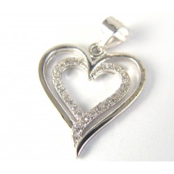 Zawieszka srebrna podwójne serce