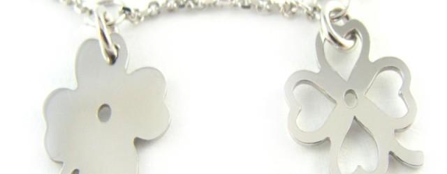 Koniczynki - bransoletka srebrna